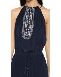 Tory Burch - Blue Embellished Jumpsuit - Lyst