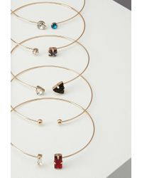 Forever 21 - Multicolor Faux Gemstone Bangle Set - Lyst