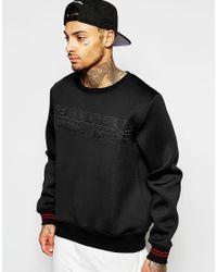 Cheats & Thieves - Black Neoprene Stamp Sweatshirt for Men - Lyst