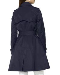 Lauren by Ralph Lauren | Blue Skirted Trench | Lyst