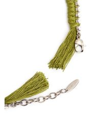 Joomi Lim - Green Cotton Braid Crystal Necklace - Lyst