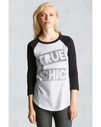 True Religion | Black True Chic Raglan Womens Tee | Lyst