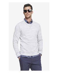 Express - Gray Space Dyed Fleece Sweatshirt for Men - Lyst
