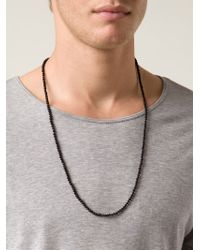 Joseph Brooks | Black Beaded Onyx Necklace for Men | Lyst