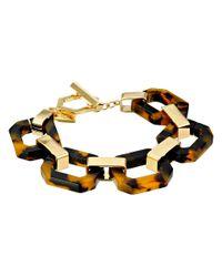 Lauren by Ralph Lauren | Brown Tortoise Link Bracelet | Lyst
