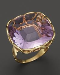Roberto Coin - 18k Yellow Gold Ipanema Square Amethyst Ring - Lyst