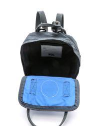 Fjallraven Gray Kanken Mini Backpack - Graphite/Un Blue