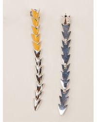 Eddie Borgo - Metallic Scaled Earrings - Lyst