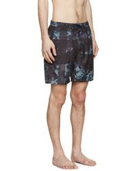 Burberry Brit - Blue Navy Camouflage Mega Check Swim Shorts for Men - Lyst