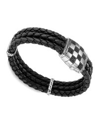 John Hardy | Black Mens Classic Chain Silver Station Bracelet for Men | Lyst