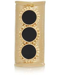 Chloé | Black Gold-Tone Onyx Ring | Lyst