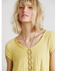 Free People - Yellow Womens Strawberry Swing Mini - Lyst