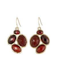 The Sak - Red Oval Cluster Drop Earrings - Lyst