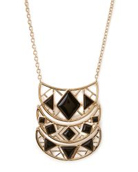 Forever 21 | Metallic Long Crescent Pendant Necklace | Lyst