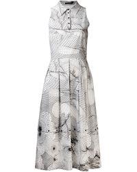 Christopher Kane   White Popper Hem Princess Dress   Lyst