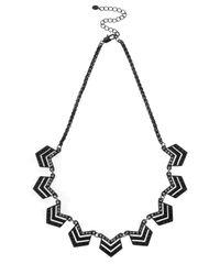Oasis - Black Pave Mini Chevron Collar - Lyst
