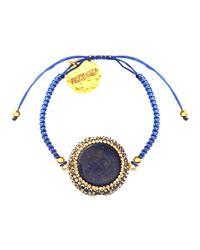 Soru Jewellery | Blue Lapis Charm Cord Tie Bracelet | Lyst