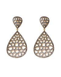 Lori Kassin | Brown Champagne Diamond Earrings | Lyst