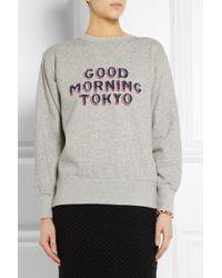 Étoile Isabel Marant | Gray Hammer Printed Cottonblend Sweatshirt | Lyst