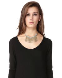 Pieces | Metallic Necklace / Longcollar | Lyst