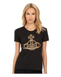 Vivienne Westwood | Black Stud Orb T-shirt | Lyst