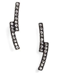 Nadri | Black Curve Stud Earrings | Lyst