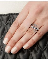 Jennifer Fisher - Metallic Silver-plated Twisted Cylinder Ring - Lyst