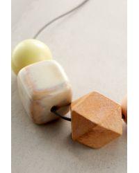 Anthropologie - Orange Quadrature Necklace - Lyst