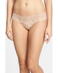 Commando | Natural 'tulip' Lace Thong | Lyst