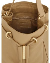 See By Chloé - Natural Small Vicki Grained Leather Bucket Bag - Lyst