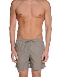 Armani - Gray Swimming Trunk for Men - Lyst