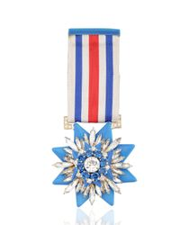 Shourouk | Blue Medal Pin | Lyst