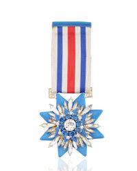 Shourouk - Blue Medal Pin - Lyst
