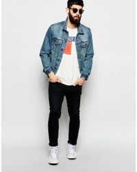 Hilfiger Denim | Natural T-shirt With Chest Logo for Men | Lyst