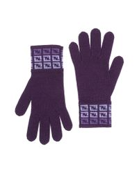 Fendi - Purple Gloves for Men - Lyst