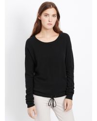 VINCE | Black Luxe Lounge Wool Cashmere Sweater | Lyst