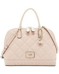 Guess | Pink Ophelia Large Dome Satchel | Lyst