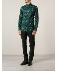 Dolce & Gabbana - Green Floral Print Shirt for Men - Lyst