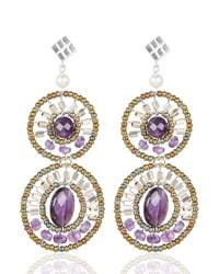Ziio - Purple Bubble Earrings - Lyst
