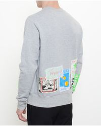 Martine Rose - Gray Unisex Cotton Sweatshirt with Flyer Patches for Men - Lyst