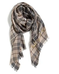 kate spade new york - Multicolor 'woodland Plaid' Wool Scarf - Lyst