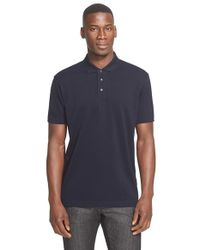 Z Zegna | Blue Cotton Pique Polo for Men | Lyst