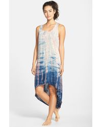 Hard Tail - Blue Tie Dye High/Low Racerback Tank Dress - Lyst