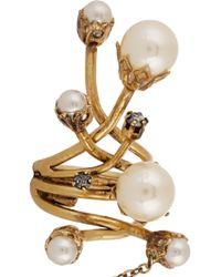 Erickson Beamon | White 'stratosphere' Faux Pearl Ring | Lyst