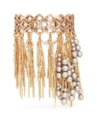 Assad Mounser | Metallic 'in Vein' Fringe Pearl Cuff | Lyst
