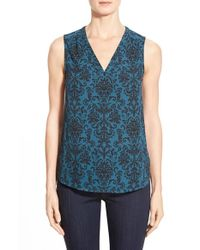 Halogen | Blue Print V-neck Shell | Lyst