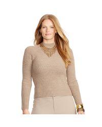 Ralph Lauren - Natural Ribbed Merino Wool Sweater - Lyst