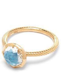 Larkspur & Hawk   Gold Bella Blue Quartz Stacking Ring   Lyst