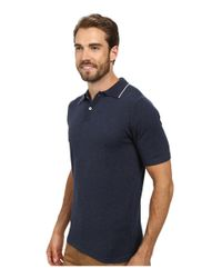Agave | Blue Baja Malibu Short Sleeve Polo Fine Gauge for Men | Lyst