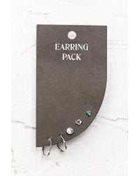 Urban Outfitters | Metallic Mini Hoop and Stud Earrings Pack | Lyst